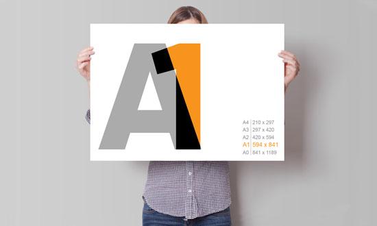 Качественная широкоформатная печать А1 формата плакатов, постеров и фотографий