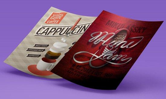 Печать плакатов, постеров и фото на матовой бумаге