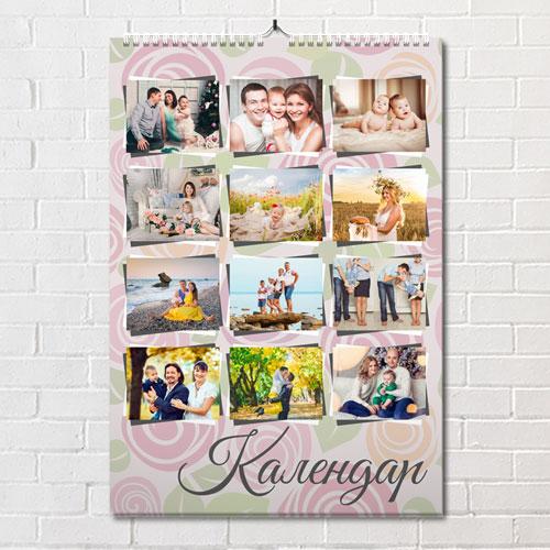 Перекидной календарь с фотографиями. Шаблон 7