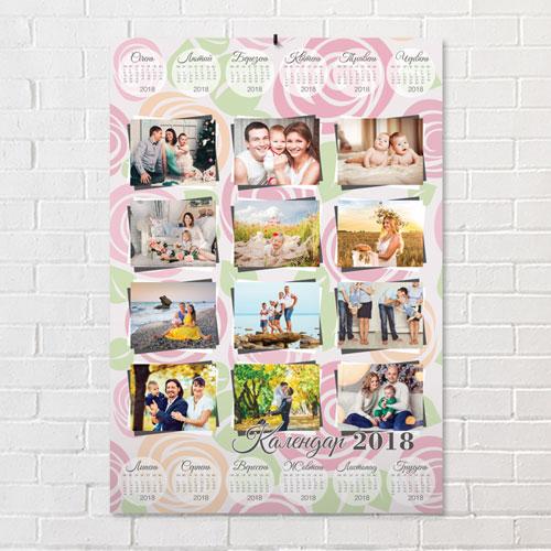 Печать календарь постеров с фотографией