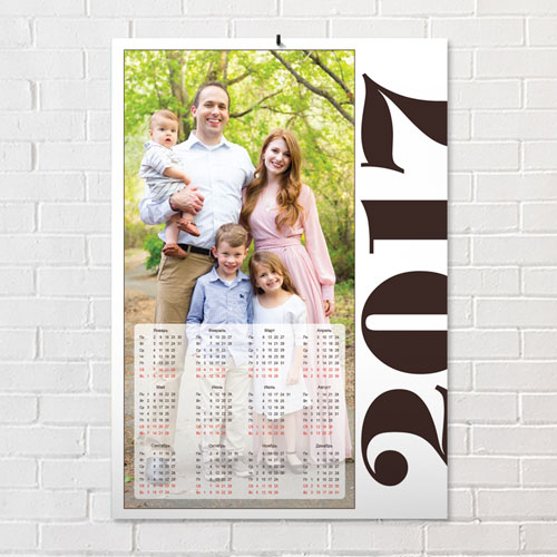 Календарь простер с фотографией . Шаблон №3