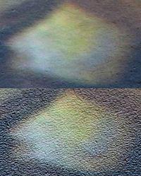Покрытие глянцевая и матовая фотобумага под микроскопом